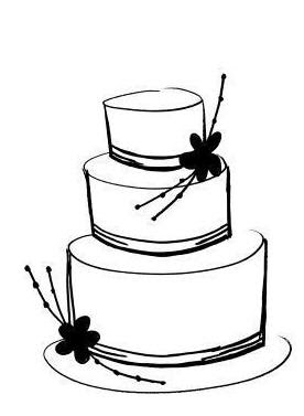 Wedding Cake Clipart Black And White Collection Cliparts