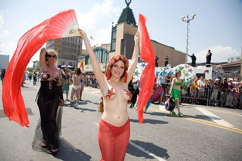 Me at the Mermaid Parade. Photo by Amy Sussman.