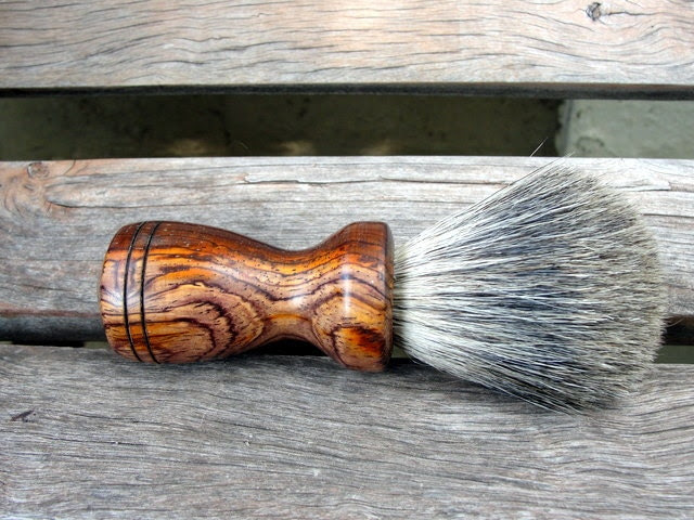 Smooth Cocobolo Badger Hair Shaving Brush - hotoffthelathe