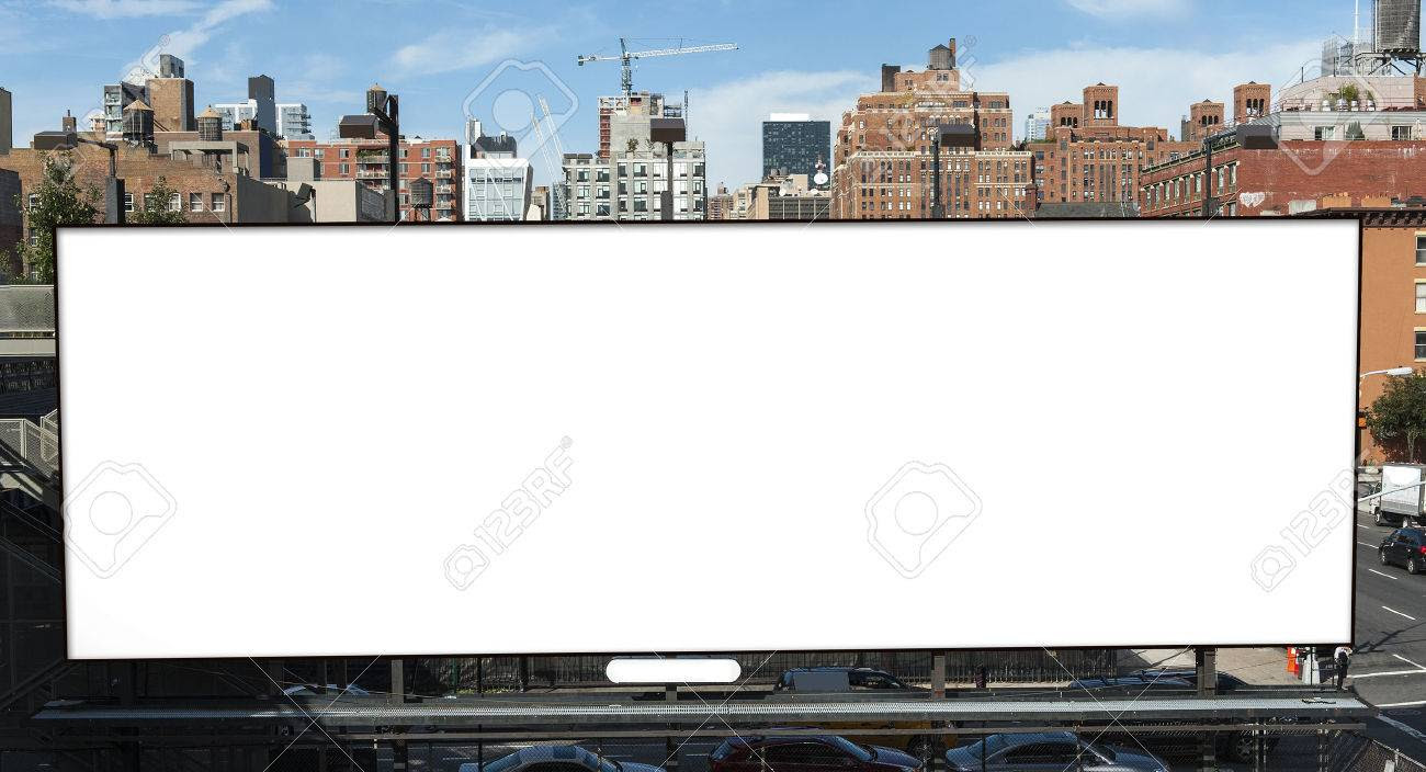 Big Blank Billboard In New York City Stock Photo, Picture And ...