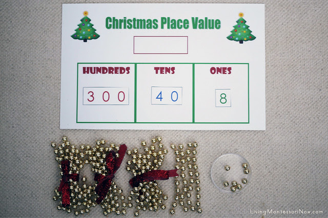 Christmas Place Value Layout