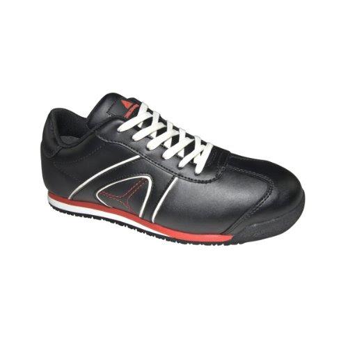 fad032403af2 Delta Plus Unisex D Spirit S3 Leather Low Safety Trainers (9 UK) (Black)
