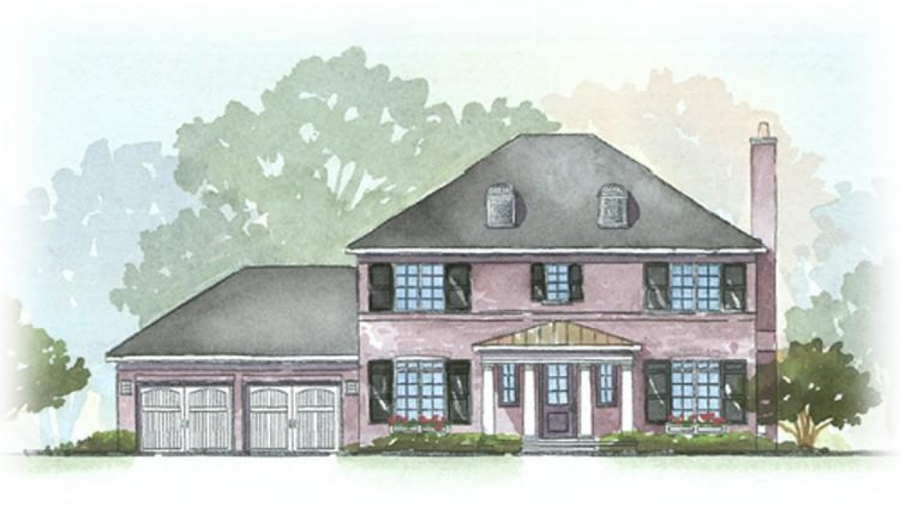 Georgian Style House Plans New Orleans  Style House  Plans