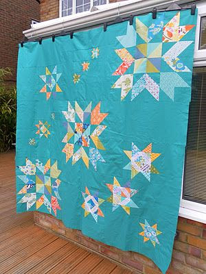 Star quilt; I love the colors, need to mix up my color selection. LLM