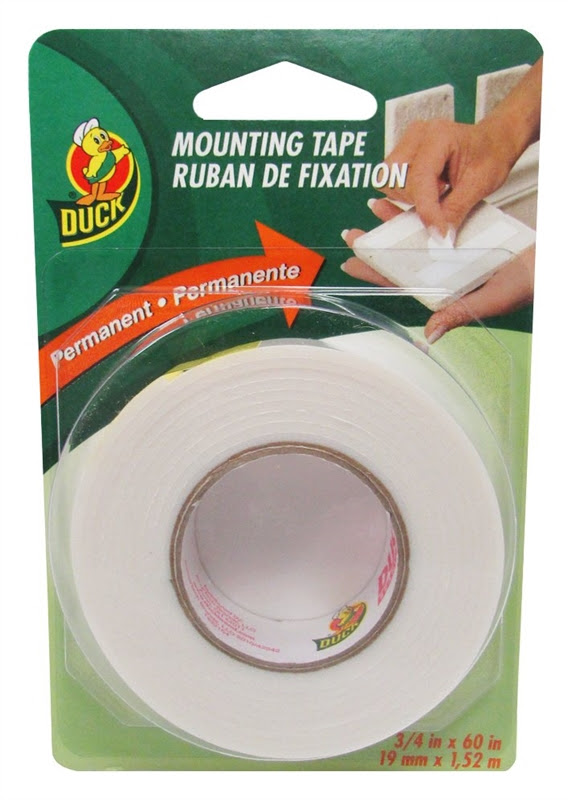 Duck 297471 Double Sided Mounting Tape 34 In W X 60 Ft L White