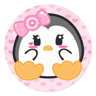 Baby Penquin - Girl Sticker sticker