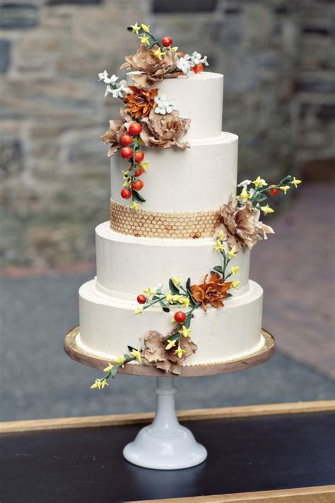 autumn cake. Burnt orange.   Fall Wedding Ideas   Pinterest