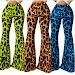 Buy 2020 cool girl hip pop Rock Leopard Print  High Waist Flare Pants Suit Female Dance dancing show animal sexy seduction trousers