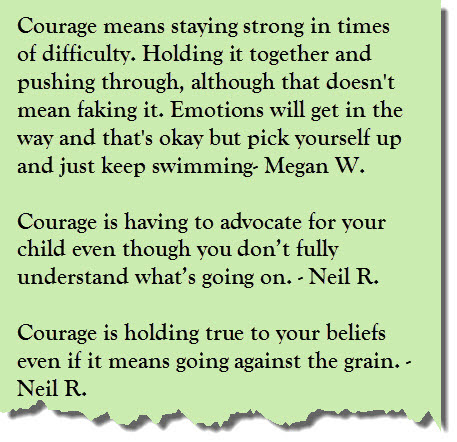 Courage Is A Collection Of Courageous Quotes Bliss Habits