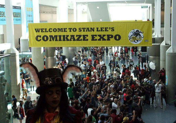 Chillin' at Stan Lee's Comikaze Expo in downtown Los Angeles, on November 2, 2013.