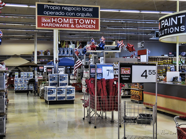 Hometown Hardware quiet aisles