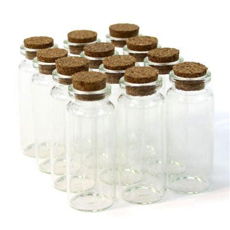 Vial Glass Cork Jars   Tall [4040 Mini Glass Cork Jar