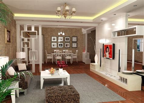 photo simple interior design  living room india