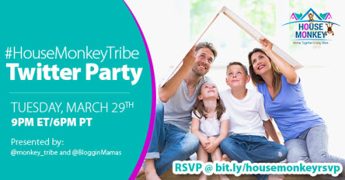 House Monkey Twitter Party 3-29-16 at 9p EST RSVP bit.ly/housemonkeyrsvp