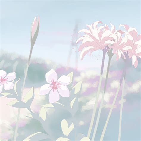 flowers anime  nature image team anime gifs