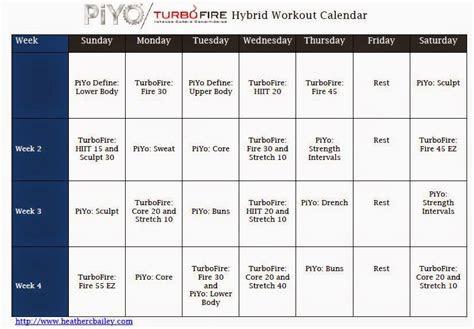 Piyo Workout Creator