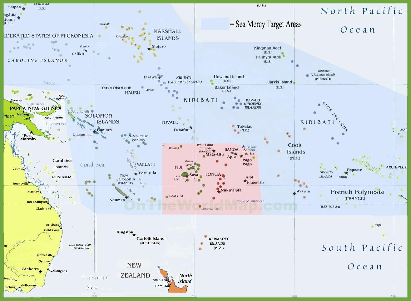 tonga political map