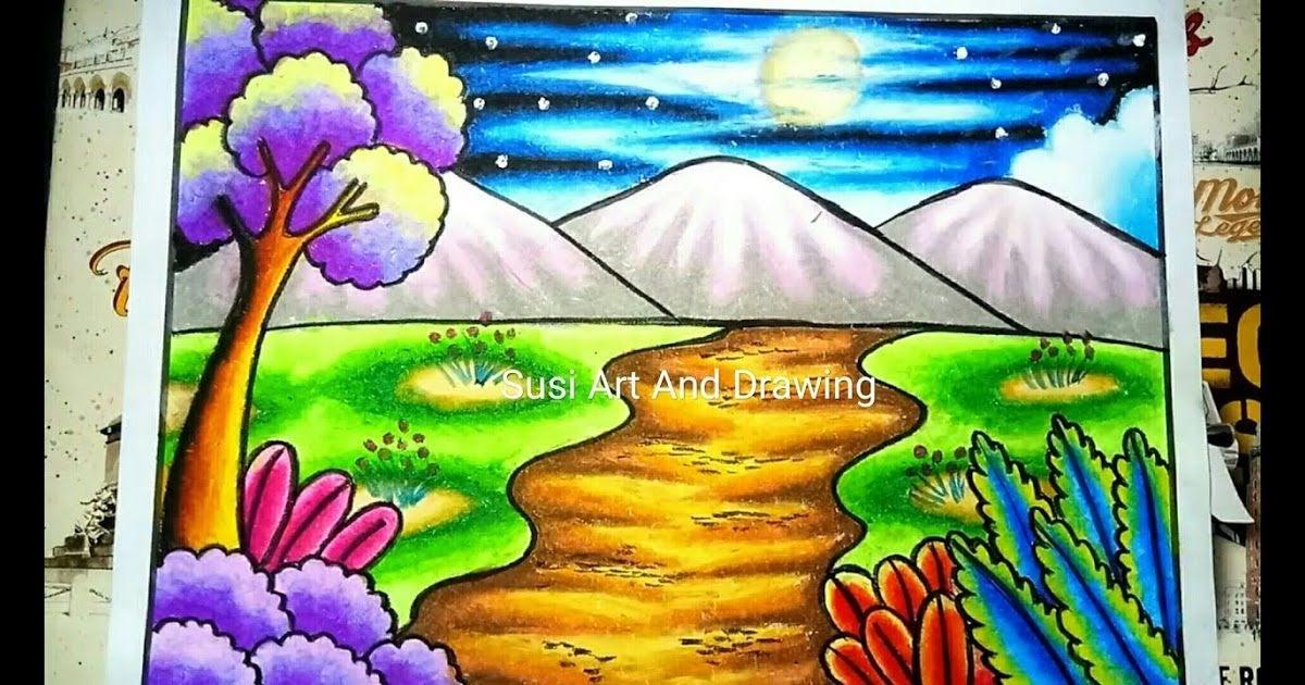 Menggambar Pemandangan Gambar Pemandangan Alam Yang Indah ...
