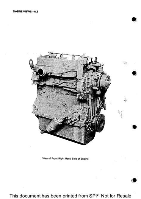 PERKINS 4.203 DIESEL ENGINE Service Repair Manual
