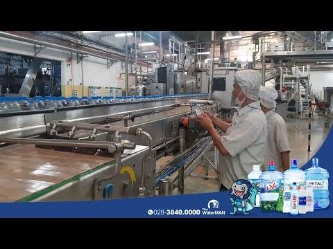 Quy trình đóng bình trong nhà máy triệu USD của La Vie