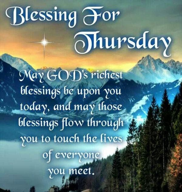 Blessings For Thursday Pictures Photos And Images For Facebook