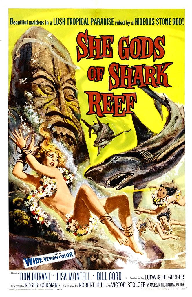 Reynold Brown - She Gods of Shark Reef (American International, 1958)