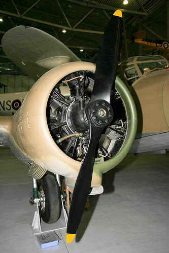 G-AMDA Anson engine detail