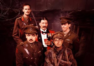 Left to right: (back) Tim McInnerny: Stephen F...