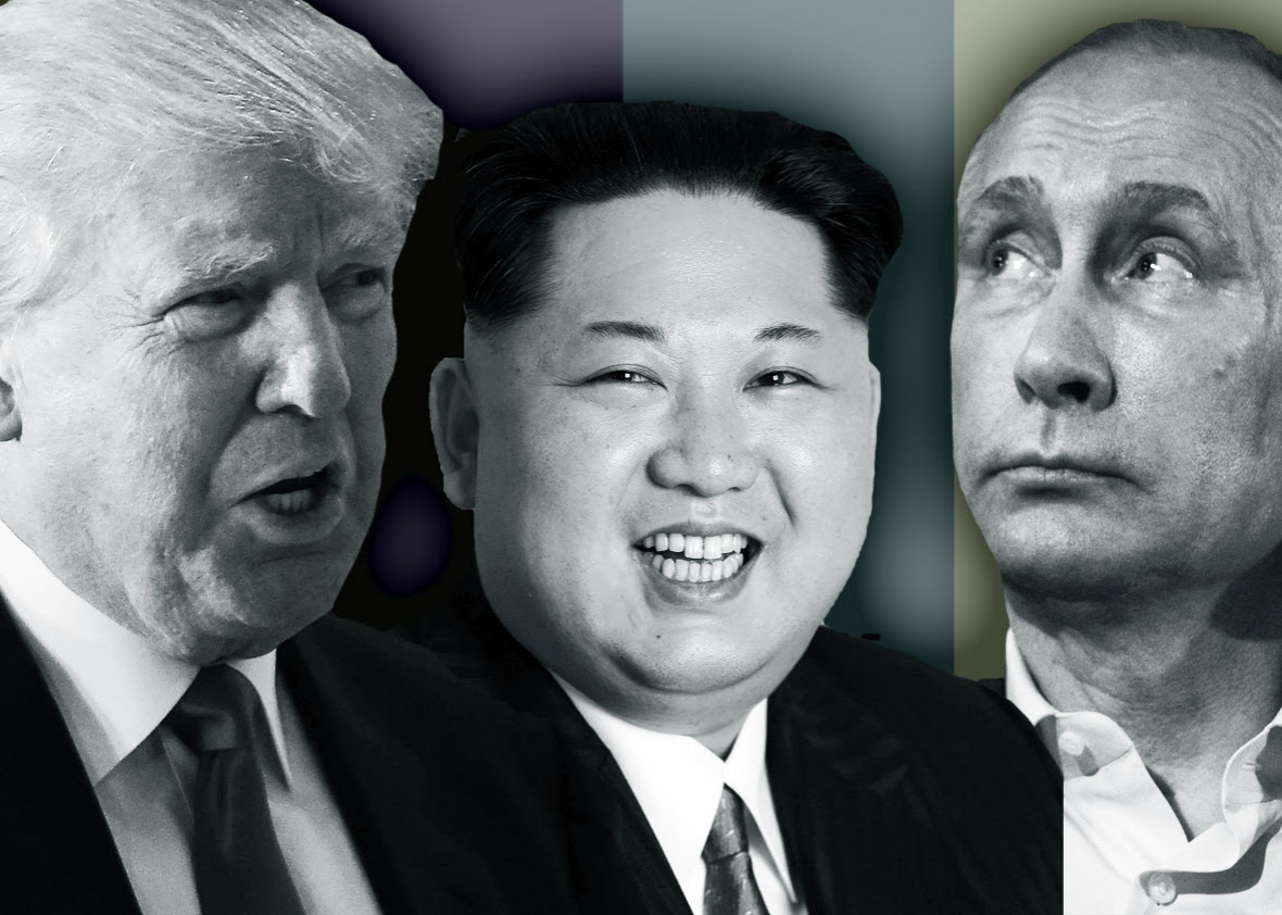 Image result for trump, kim and putin