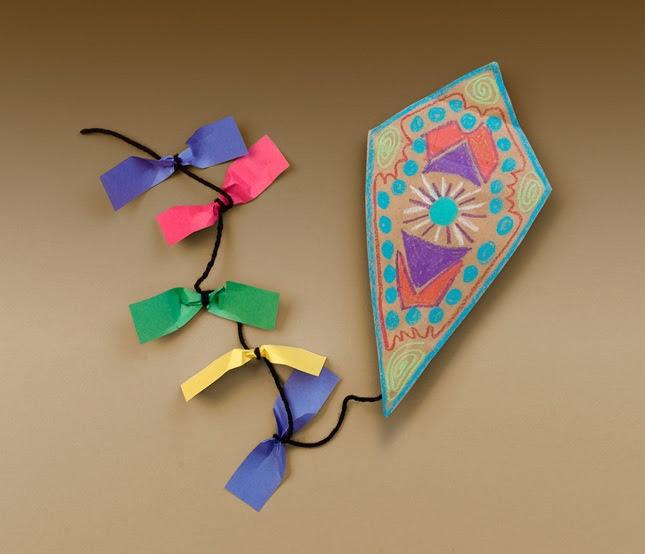 Quick, Colorful Kites craft