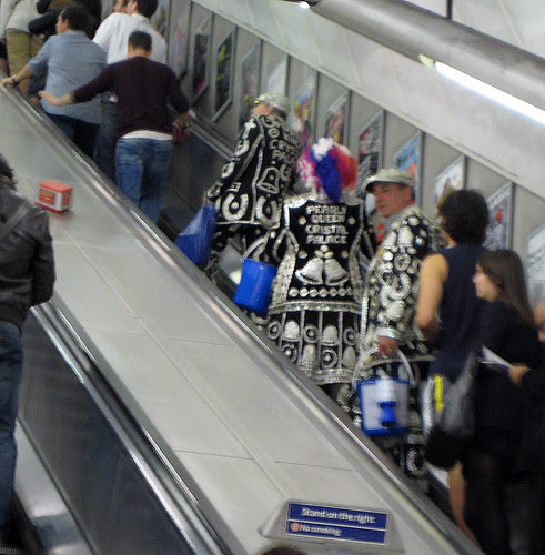 Pearly Kings & Queen on the Tube