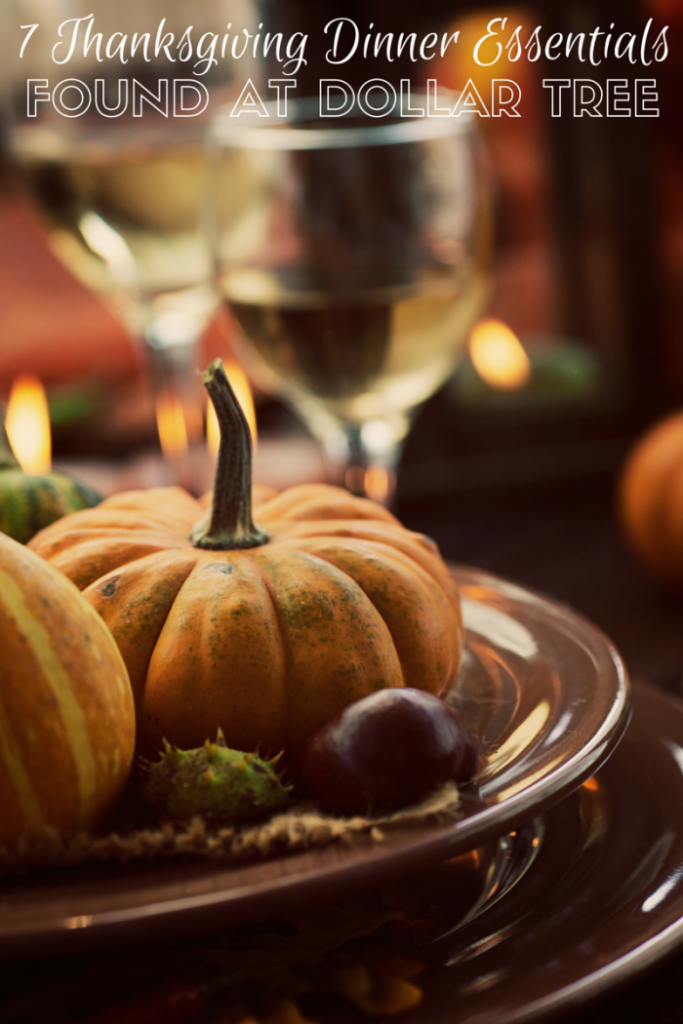 7 Thanksgiving dinner essentials from the dollar store
