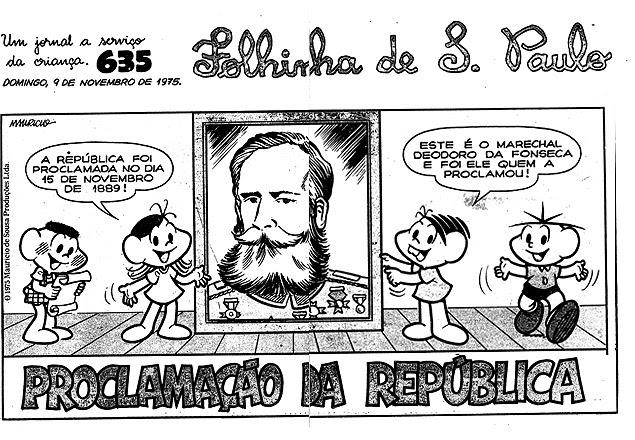 da capa da edição da Folhinha de 9 de novembro de 1975