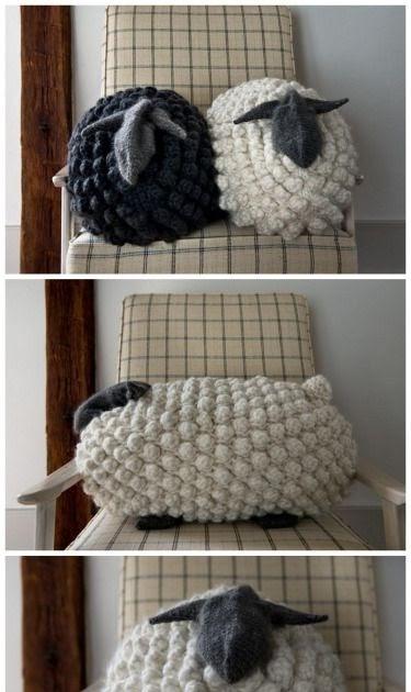 Melissa Crochet Designs Diy Giant Knit Bobble Sheep Pillow