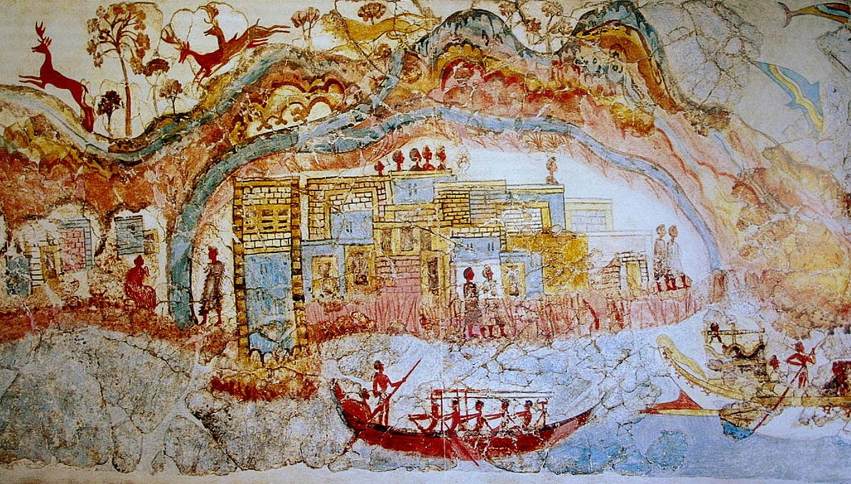Featured image: Elaborate and colorful fresco revealed at Akrotiri.
