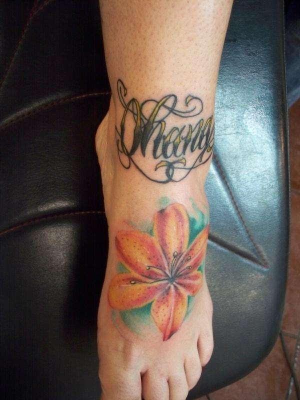 Tiger Lily Slash Tattoo Design Tattoomagz