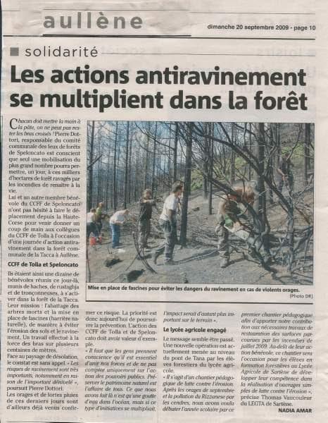 feu 2009 mesures anti ravinement