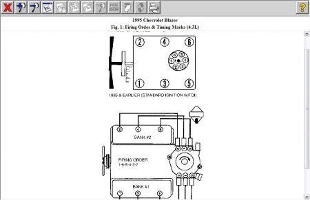 Firing Order: 1995 Chevy Blazer 4.3L VIN W Engines Firing ...