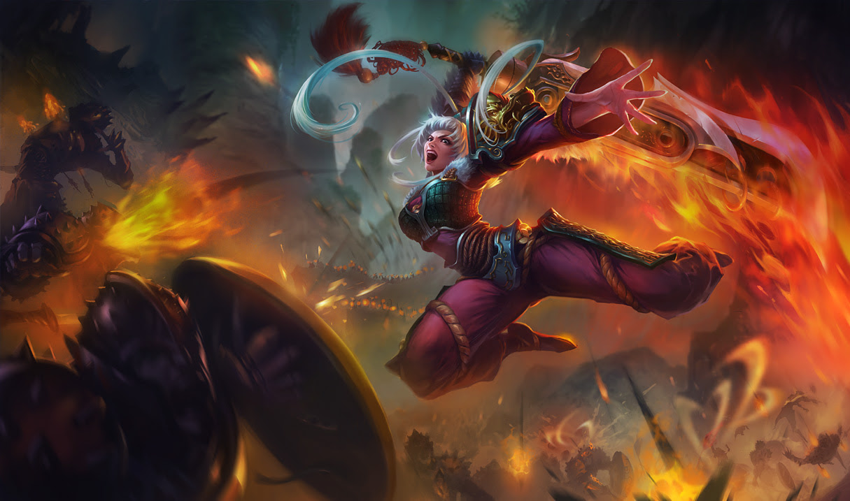 Dragonblade Riven Skin League Of Legends Wallpapers