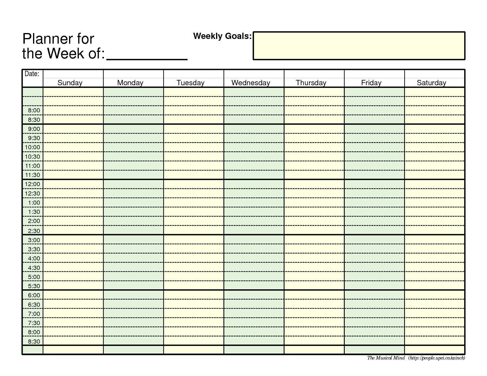 Daily Agenda Calendar Printable   Daily Agenda Calendar