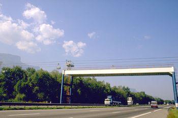 Aerial ropeway grenoble france bridge over highway