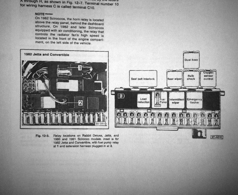 Golf 1 Mk1 Golf Fuse Box Guide - Wiring Diagram Schemas