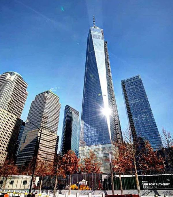 The 1 World Trade Center in New York City...as of March 12, 2014.