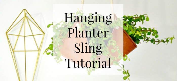 earthy diy leather planter sling