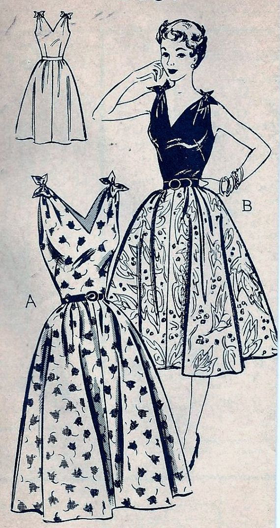 Vintage 50s Mail Order 2067 Dress Pattern by vintagepatternstore, $14.99