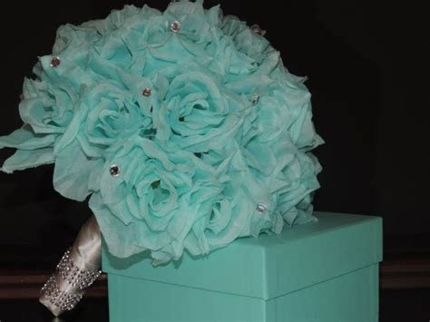 This Bouquet is created with Tiffany blue roses and