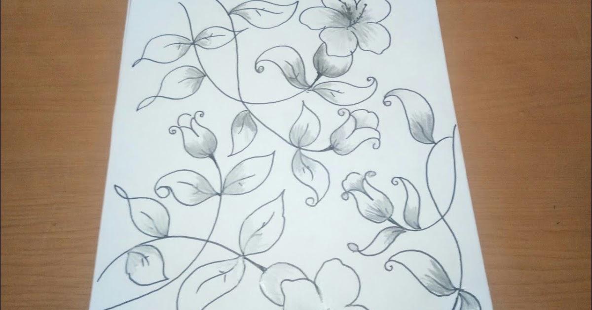 Gambar Sketsa Batik Yang Mudah