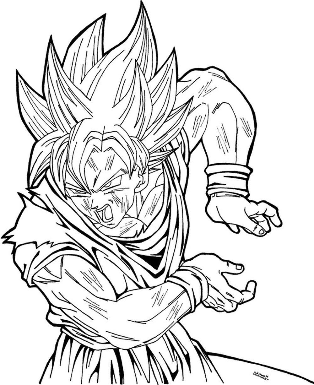 Dibujos Para Imprimir Y Colorear De Goku Imagesacolorierwebsite