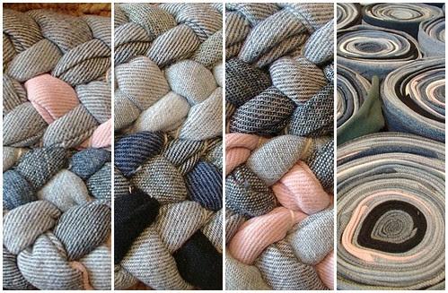 close up braided rug