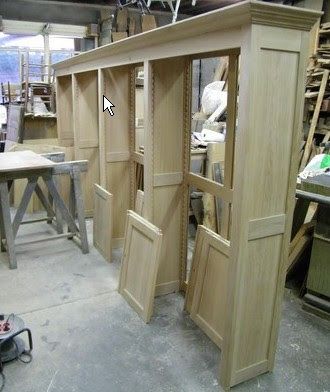 falegnameria pareti libreria in legno
